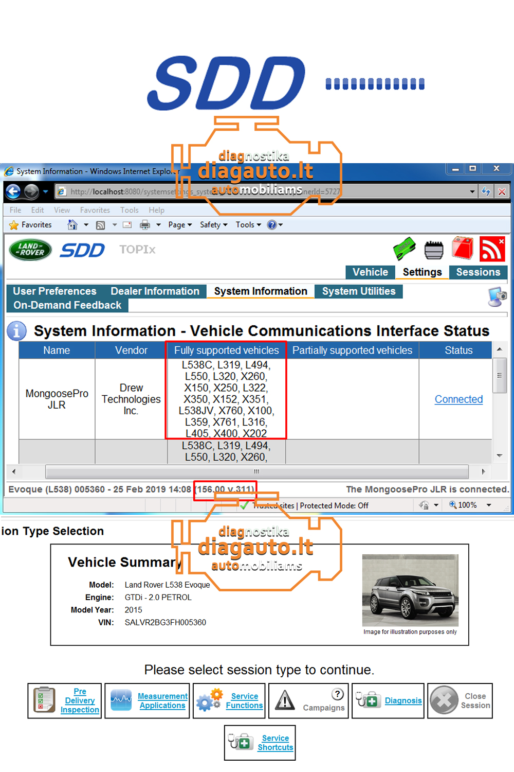 Mangoose JLR SDD/Volvo VIDA/TOYOTA TIS Techstream 3 in 1 device
